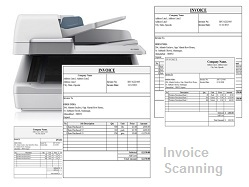 Invoice Scanning Outsourcing Services - Outsource invoice processing